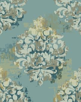 Barokowy wzór tekstury. ozdoba z motywem kwiatowym