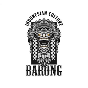Barong bali ilustracja