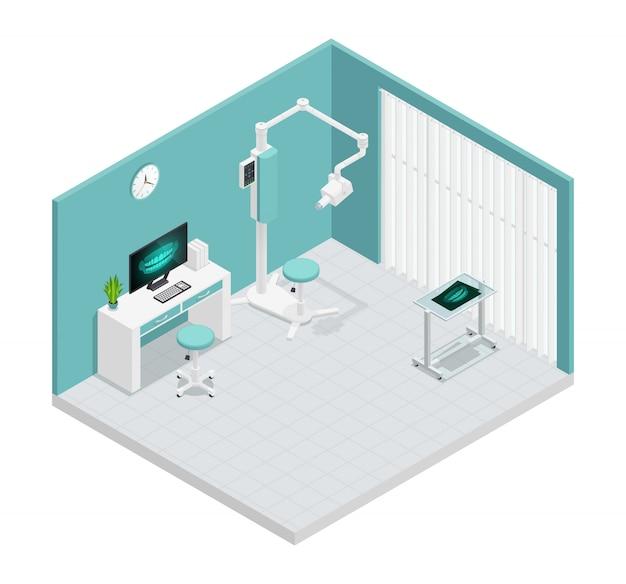 Barwiony stomatology stomatologii isometric 3d skład