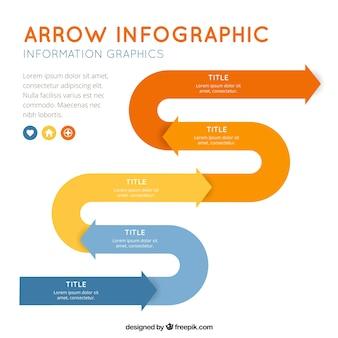 Barwne szablonu strzałki infografia