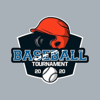 Baseball odznaka logo emblemat szablon turniej baseballowy 2020