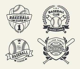 Baseball odznaki i etykiety, Sport Logo Design