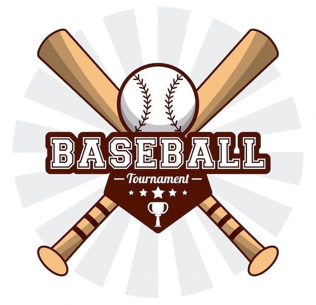 Baseball turnieju sportowego nietoperza nakreślenia balowy wizerunek