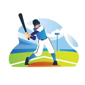 Baseballista ćwiczący w terenie