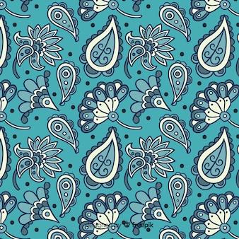 Batik kwiatowy wzór