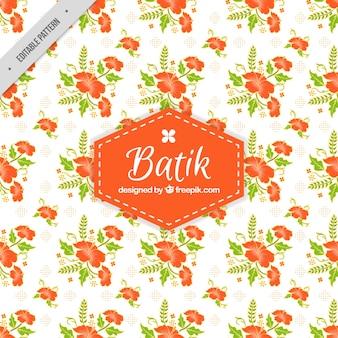 Batik wzór dekoracyjnych kwiatów