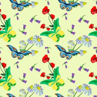 Batterfly wzorce bezszwowe wektory