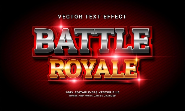 Battle royale 3d edytowalny efekt stylu tekstu
