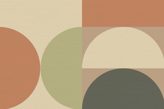 Bauhaus tło, brązowy odcień ziemi wektor tapety