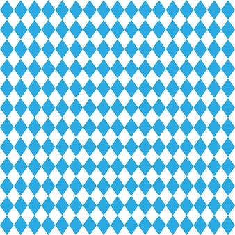 Bawarski wzór rombowy, proste tła i tekstury. wektor