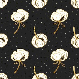Bawełniany kwiat ładny wzór