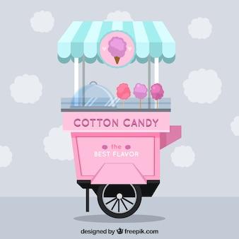 Bawełny słodki ładny wóz