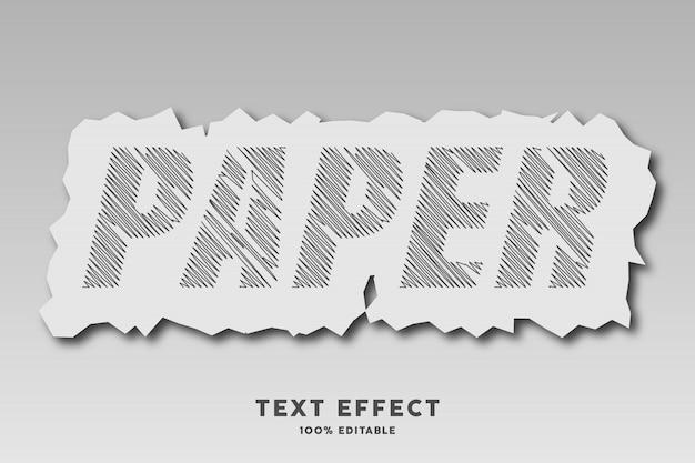 Bazgroły z efektem stylu rozdarty papier