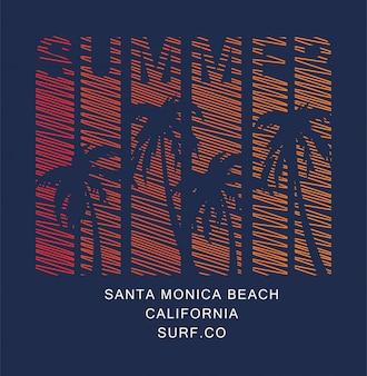 Beach palm summer paradise print