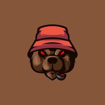 Bear hat maskotka esport