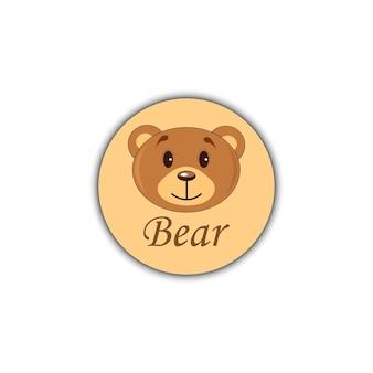 Bearicon głowa niedźwiedzia brunatnego na białym tle.