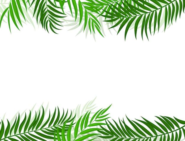 Beautifil palma liść sylwetka tło wektor ilustracja eps10
