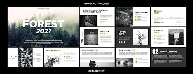 Beauty nature prezentacja wielofunkcyjna design