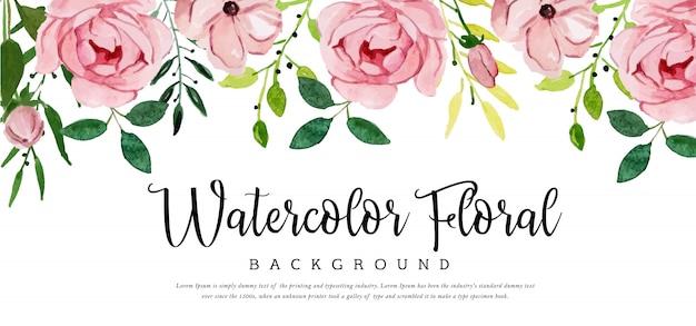 Beautyful akwarela tle kwiatów