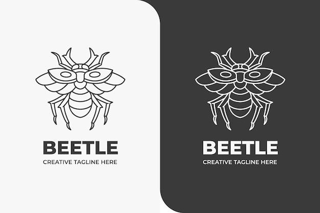 Beetle owad zwierząt monoline logo