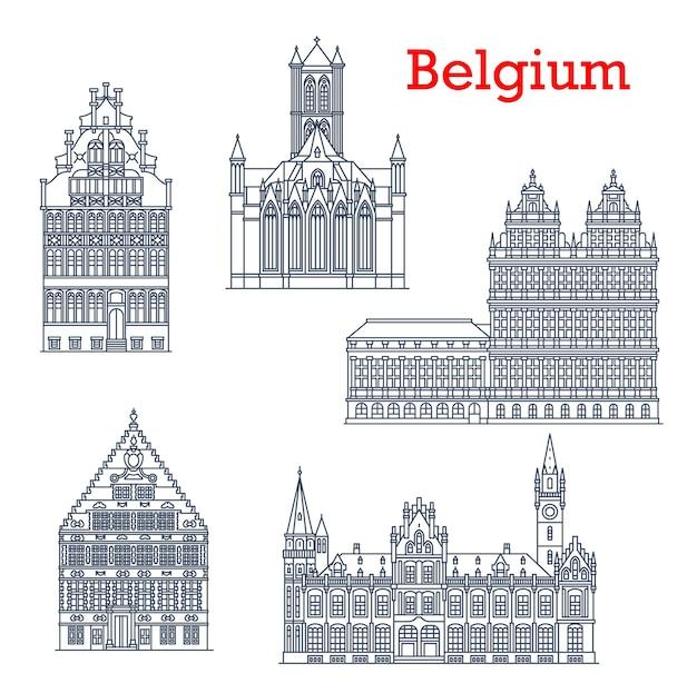 Belgia podróży zabytki, ikony architektury.