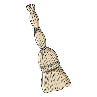 Besom ekologiczny doodle miotły.