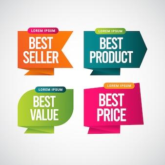 Bestseller, najlepszy produkt, najlepsza cena, najlepsza cena szablon projektu ilustracji tekstowej