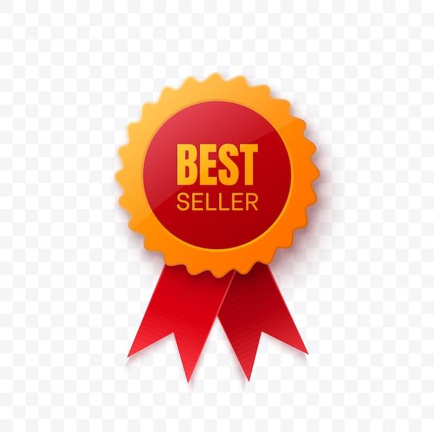 Bestseller realistyczna czerwona wstążka