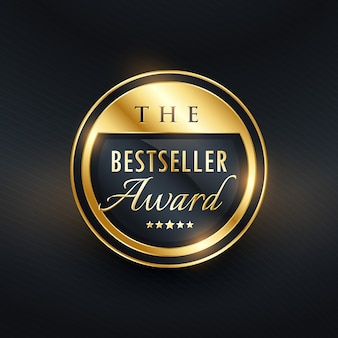 Bestsellerowa nagroda odznaka projektowania etykiet dla twojego produktu