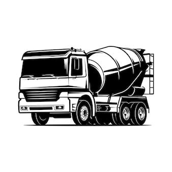Betoniarka cement beton ciężarówka