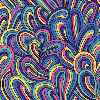 Bez szwu abstrakcyjny wzór. kolorowa jaskrawa ilustracja z fala