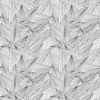 Bez szwu czarno-biały wzór zentangle