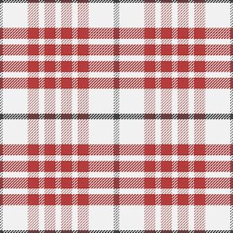 Bez szwu czerwony wzór szkocką kratę