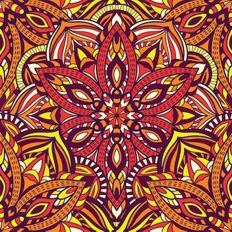 Bez szwu deseń mandala wektor wzór do druku. ornament plemienny.