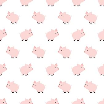 Bez szwu deseń, projekt tła piggy sztuki dla tkaniny i wystrój. styl kreskówki. dziecięcy doodle. niemowlęctwo. nowo narodzony. ilustracja wektora i elementu dla projektu, tapety. ogród zoologiczny. dzieci. gospodarstwo rolne.