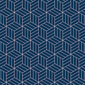 Bez szwu inspirowane japońskim wzorem geometrycznym