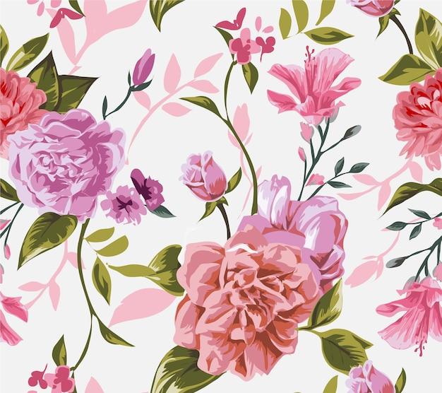 Bez szwu kolorowe kwiatki
