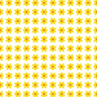Bez szwu małego żółtego pola kwiatowego na białym tle wektoru