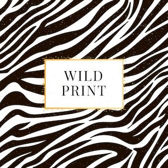 Bez szwu wzór zebry dziki wydruk