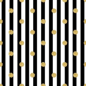 Bez szwu złoty wzór glitter dot na pasku tle