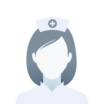 Bez twarzy portret pielęgniarki. ilustracja na białym tle wektor