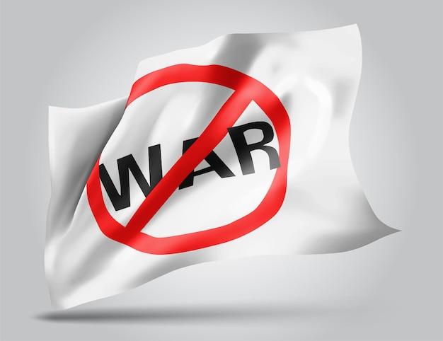 Bez wojny, wektor flaga 3d na białym tle