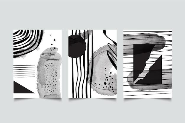 Bezbarwna abstrakcyjna kolekcja okładek akwareli