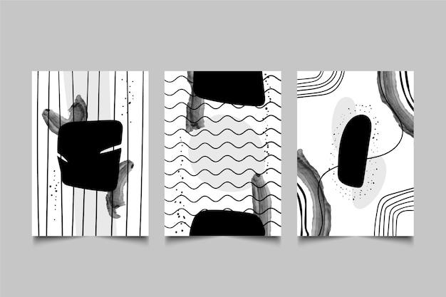 Bezbarwna abstrakcyjna kolekcja okładek
