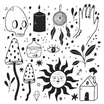 Bezbarwne ilustracje w płaskiej konstrukcji