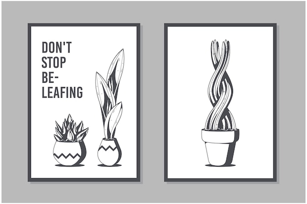Bezbarwny szablon projektu plakatu roślinnego