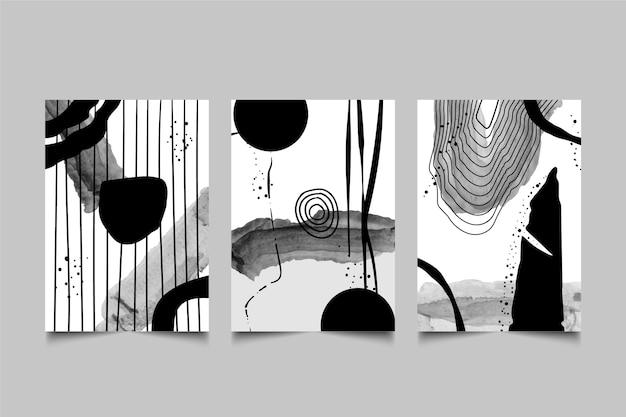 Bezbarwny zestaw abstrakcyjnych okładek