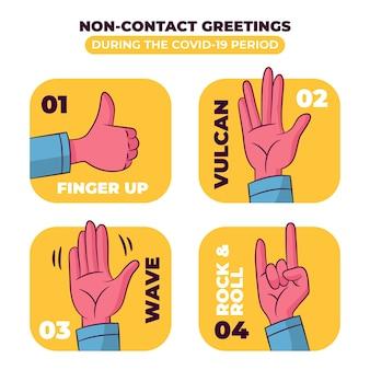 Bezkontaktowa koncepcja pozdrowienia