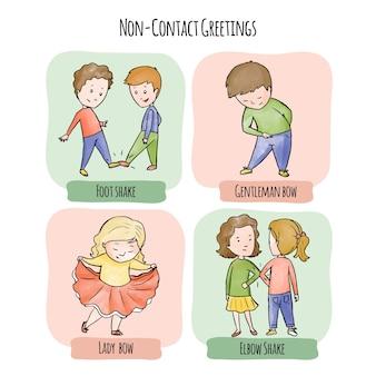 Bezkontaktowe pozdrowienia dla ochrony