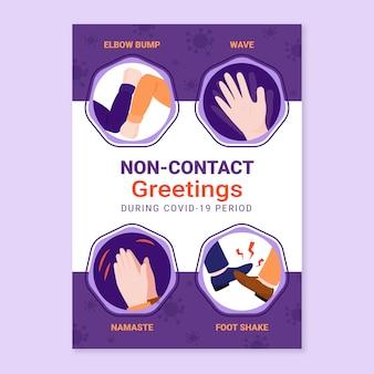 Bezkontaktowe pozdrowienia w formacie plakatu